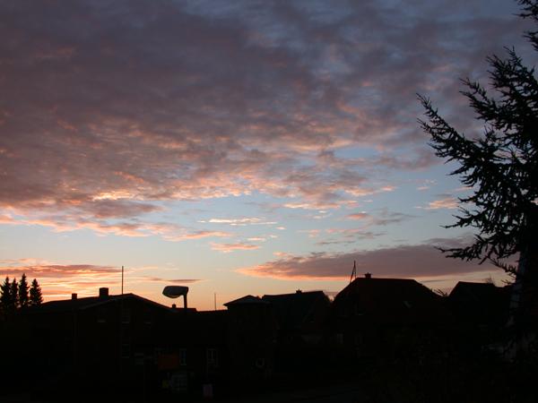 Abendhimmel über Gülzow